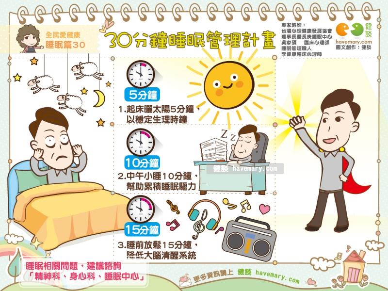 睡眠管理,失眠,助眠,健康圖文,健康漫畫,漫漫健康,Sleep management, insomnia, help sleep,健談,健談網,havemary