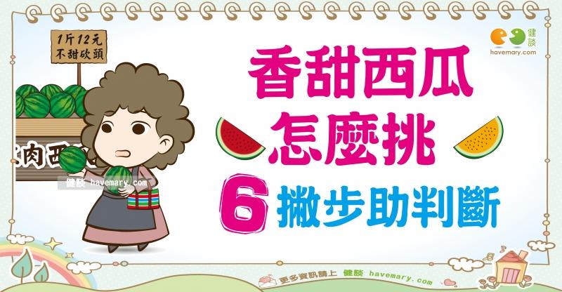 西瓜,挑選西瓜,如何挑選西瓜,健康圖文,健康漫畫,漫漫健康,Watermelon, selection of watermelon, how to choose Watermelon,健談,健談網,havemary